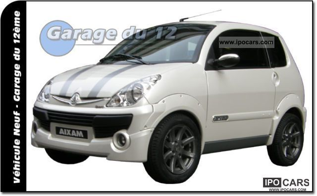 2010 Aixam  City Sports blanc nacre neuve 2010 - sans permis Sports car/Coupe Used vehicle photo