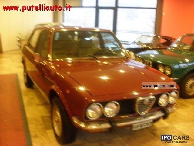 1981 Alfa Romeo  Alfetta 6.1 targa oro asi .... Limousine Used vehicle photo