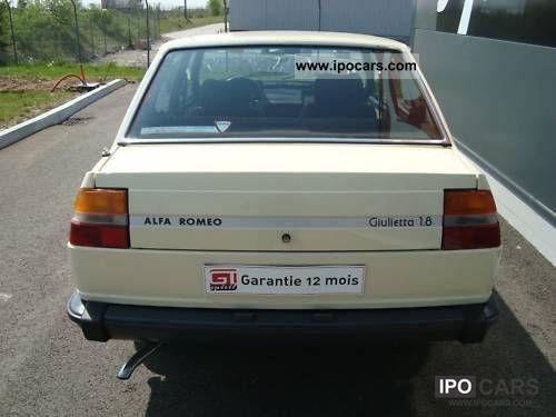 1980 Alfa Romeo Giulietta 1800 Car Photo And Specs