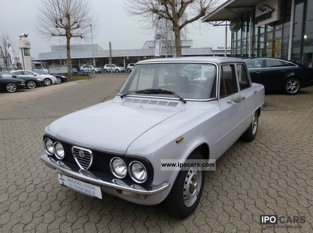Alfa Romeo  Giulia Nuova Super 1300 with H-approval 1976 Vintage, Classic and Old Cars photo