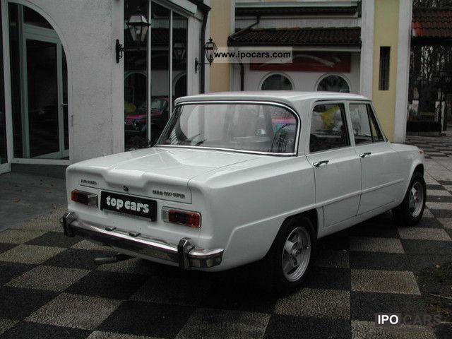 1971 alfa romeo giulia super 3 1 car photo and specs. Black Bedroom Furniture Sets. Home Design Ideas