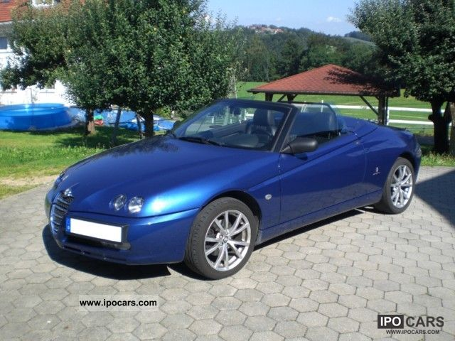 2004 alfa romeo spider 2.0 jts with navi and wind deflector - car