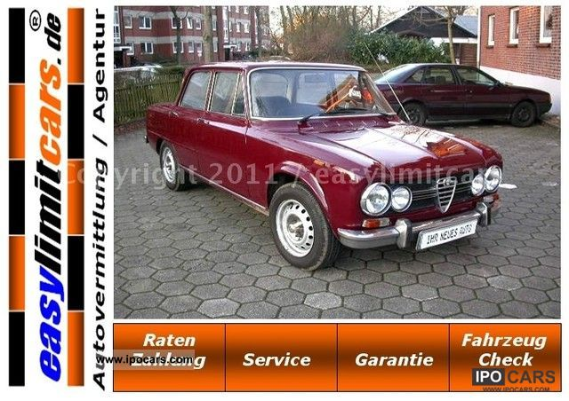 Alfa Romeo  Giulia 1.6 S, H, Admission, accident care, 1972 Vintage, Classic and Old Cars photo