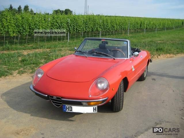 Alfa Romeo  2.0 veloce spider coda Tronca 1972 Vintage, Classic and Old Cars photo