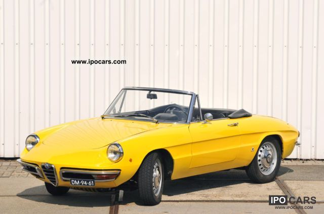 1968 alfa romeo duetto spider 1600 car photo and specs. Black Bedroom Furniture Sets. Home Design Ideas