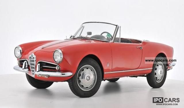 1962 Alfa Romeo  Giulietta Cabrio / roadster Classic Vehicle photo