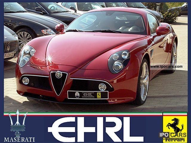 2009 Alfa Romeo  8C Competizione Alfa red special luggage wheels Sports car/Coupe Demonstration Vehicle photo