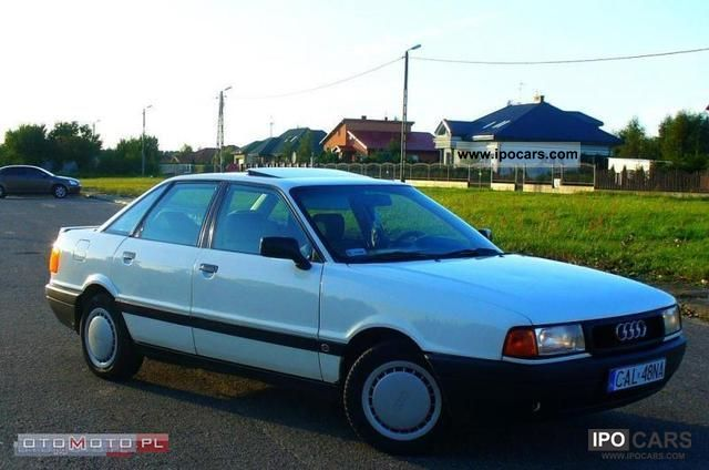 Audi  80 * GAZ, WSPOMAG, SZYBER, ZARJSTR 1990 Liquefied Petroleum Gas Cars (LPG, GPL, propane) photo
