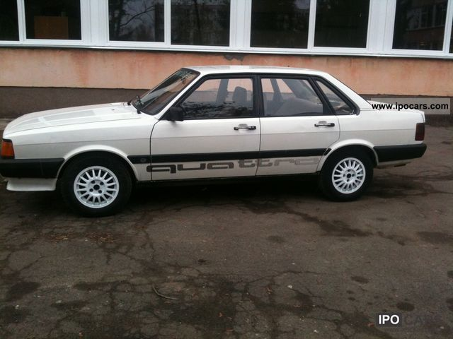1985 audi 80 quattro gte car photo and specs. Black Bedroom Furniture Sets. Home Design Ideas
