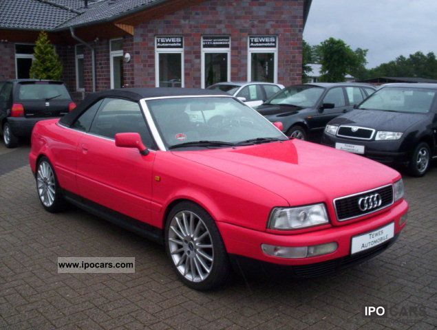 1998 Audi  Cabriolet 1.9 TDI rims / part leather Cabrio / roadster Used vehicle photo