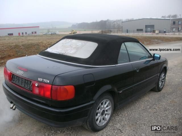 1996 Audi Cabriolet 1 9 Tdi With Leather Car Photo And Specs
