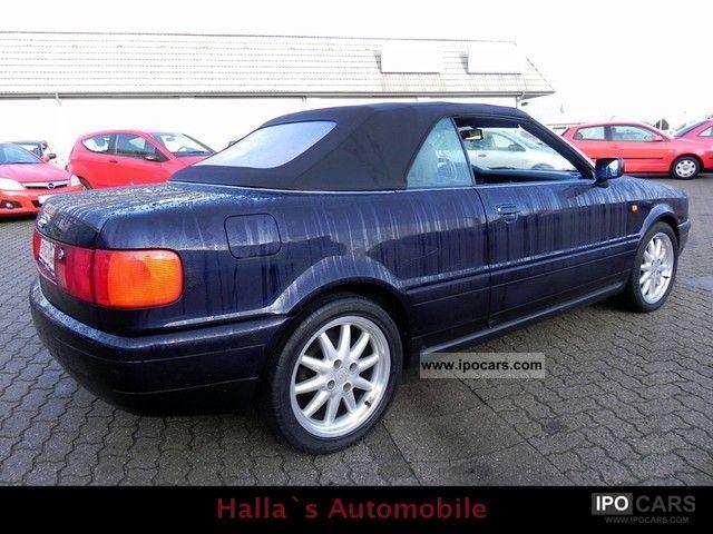 1999 Audi 80 Cabriolet 1.8 * Climate * el * Tüv Hood * Leather * - Car Photo and Specs