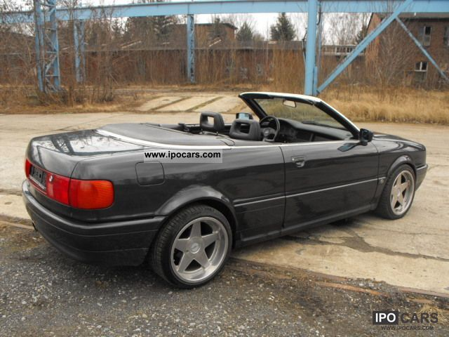 1992 Audi  80 Cabriolet black leather seats 5 Dowel Cabrio / roadster Used vehicle photo
