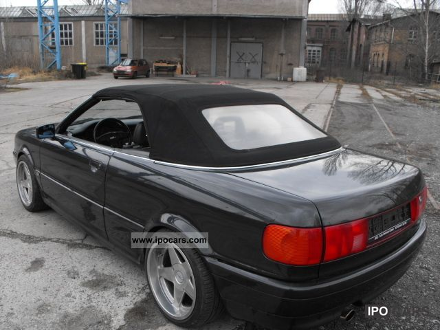 1992 audi 80 cabriolet black leather seats 5 dowel car photo and specs. Black Bedroom Furniture Sets. Home Design Ideas