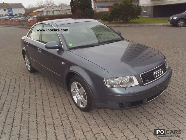 2002 Audi  A43.0 quattroTop offer leather Schiebeda Limousine Used vehicle photo