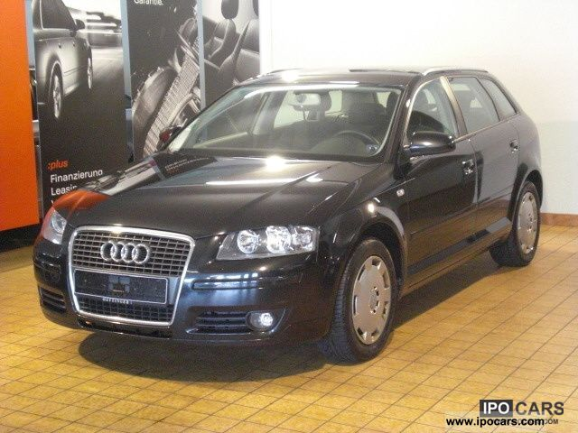 2007 Audi  A3 Sportback 1.9 TDI DPF, air, trailer hitch, Limousine Used vehicle (business photo