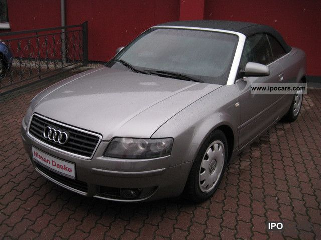 2004 audi a4 cabriolet car photo and specs. Black Bedroom Furniture Sets. Home Design Ideas