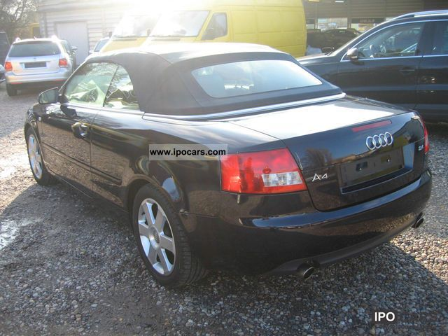 2003 audi a4 cabriolet 2 4 automatic xenon leather car photo and specs. Black Bedroom Furniture Sets. Home Design Ideas