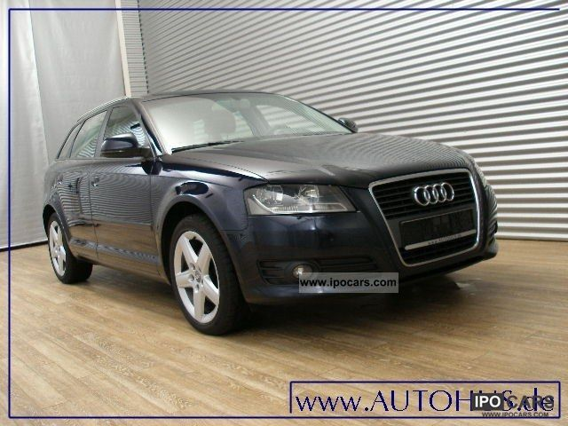 2009 audi a3 sportback 2 0 tdi klimaaut cruise car photo and specs. Black Bedroom Furniture Sets. Home Design Ideas