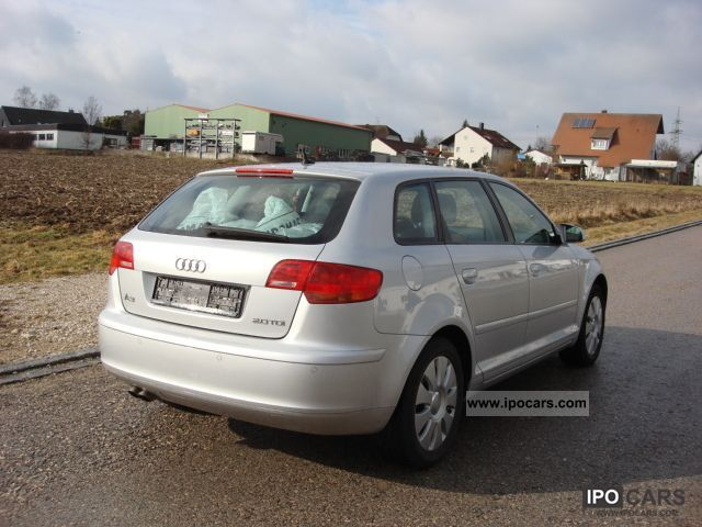 2007 audi a3 2 0 tdi sportback dpf pdc ahk 8 times pruinose car photo and specs. Black Bedroom Furniture Sets. Home Design Ideas