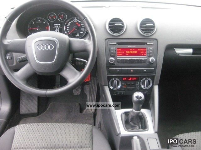 2009 audi a3 sportback 1 9 tdi ambiente car photo and specs. Black Bedroom Furniture Sets. Home Design Ideas