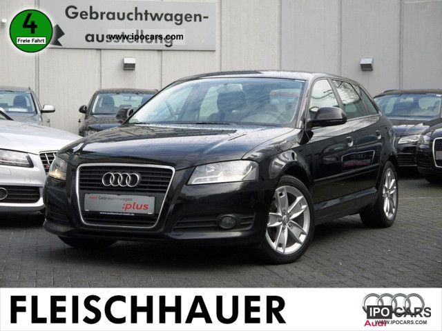 2009 audi a3 sportback 2 0 tdi ambition klimaautomatik car photo and specs. Black Bedroom Furniture Sets. Home Design Ideas