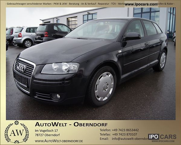 2008 Audi  A3 2.0 TDI Sportback S Tronic DSG checkbook aluminum Limousine Used vehicle photo
