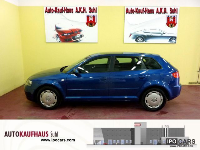 2008 Audi  A3 Sportback 1.9 TDI e Attraction + + air automation Estate Car Used vehicle photo