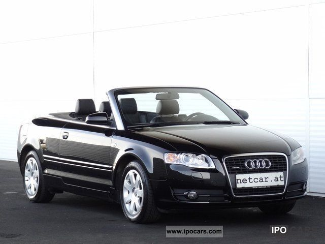 2006 audi a4 cabriolet 3 2 fsi v6 quattro export car photo and specs. Black Bedroom Furniture Sets. Home Design Ideas