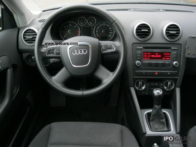 2009 audi a3 sportback 1 9 tdi dpf car photo and specs. Black Bedroom Furniture Sets. Home Design Ideas