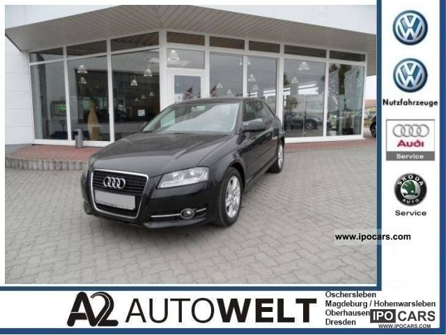 2010 Audi  A3 1.6 navigation, climate, heated seats, LMF, leather steering wheel Limousine Used vehicle photo