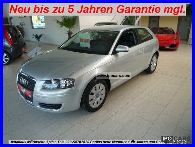 2006 Audi  A3 ONLY 29 thousand kilometers! 1.Hand pensioners vehicle navigation Limousine Used vehicle photo
