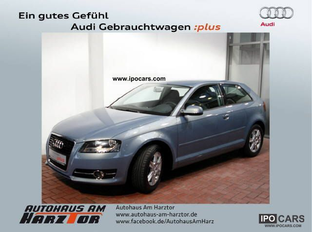 2010 Audi  A3 1.2 Attraction parking aid, heated seats, speed Limousine Used vehicle photo