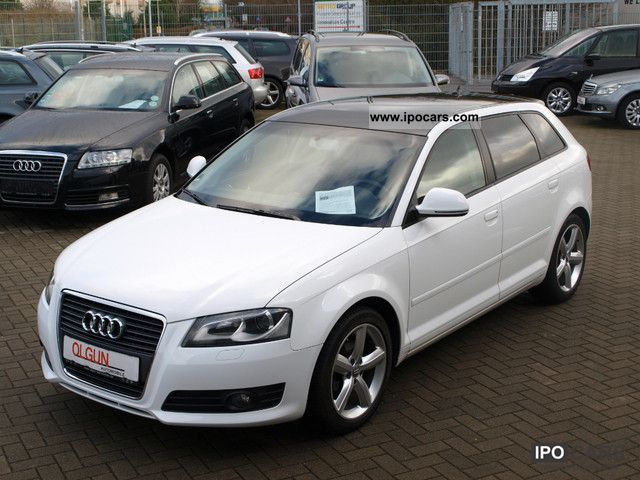 2009 audi a3 2 0 tdi sportback ambition xenon panorama pdc car photo and specs. Black Bedroom Furniture Sets. Home Design Ideas