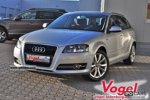 2010 Audi  A3 Sportback 1.6 Ambition, BOSE roof rails, Einpa Limousine Used vehicle photo