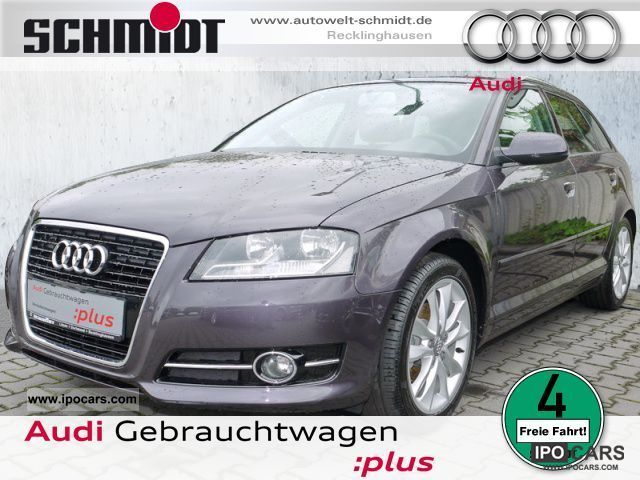 2010 Audi  A3 Sportback 1.6 Ambition Aluminum GRA PDC climate Limousine Used vehicle photo