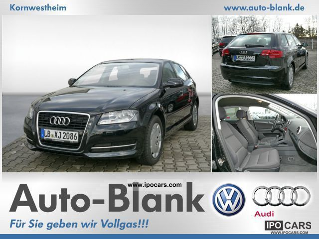 2011 Audi  A3 Sportback 1.6 liters of air, SHZ, PDC Limousine Used vehicle photo