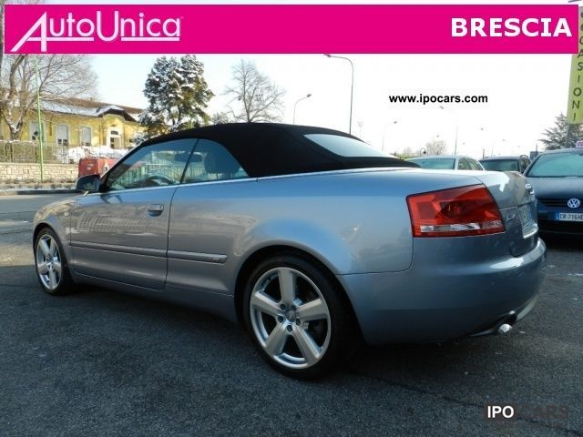 2006 audi a4 convertible tiptronic 3 0 tdi quattro s fap lin car photo and specs. Black Bedroom Furniture Sets. Home Design Ideas