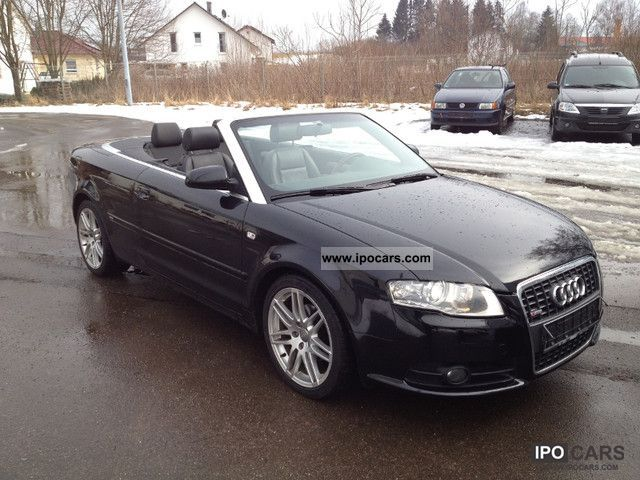 2008 audi a4 cabriolet 2 0 tdi s line xenon leather. Black Bedroom Furniture Sets. Home Design Ideas