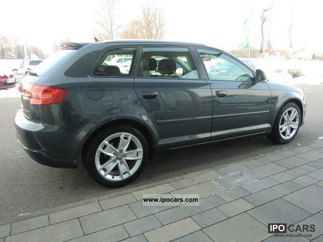 2010 audi a3 sportback 2 0 tdi ambition navi shz gra bluet car photo and specs. Black Bedroom Furniture Sets. Home Design Ideas