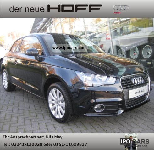 2012 Audi  A1 Ambition 2.1 BlueConcertAluKlima at camp! Small Car Used vehicle photo