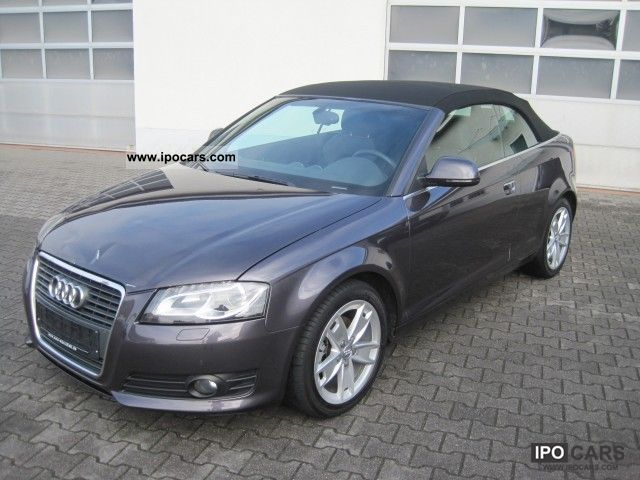 2009 Audi  A3 Cabriolet 2.0 TDI Ambition leather Navi DVD Alu Cabrio / roadster Used vehicle photo