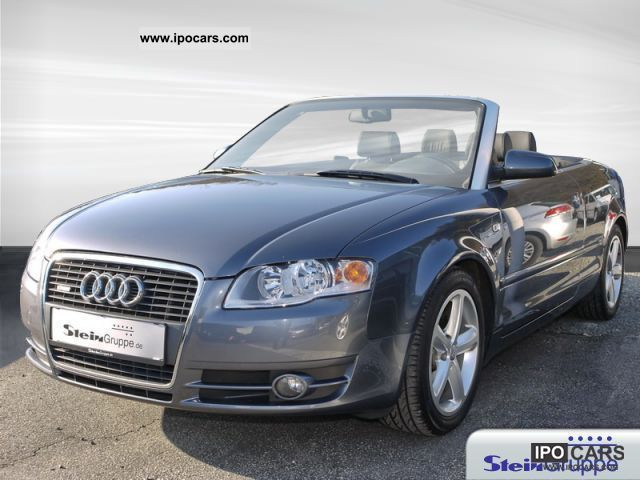2006 audi a4 cabriolet 2 0 tdi s line leather air alu car photo and specs. Black Bedroom Furniture Sets. Home Design Ideas