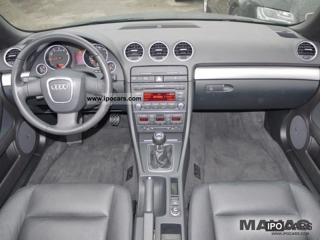 2008 audi a4 cabriolet 1 8 t let sitzhz leather pdc 5 for Audi a4 onderdelen interieur
