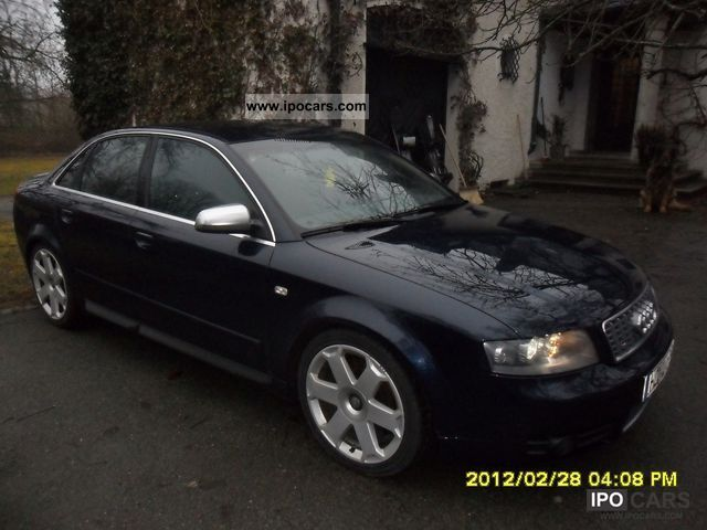 2004 audi s4 4 2 v8 quattro sedan car photo and specs. Black Bedroom Furniture Sets. Home Design Ideas