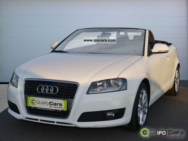 2008 audi a3 cabriolet 1 9 tdi dpf with mmi navigation system rear aps car photo and specs. Black Bedroom Furniture Sets. Home Design Ideas