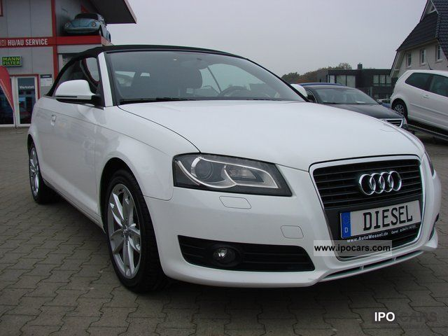 2008 Audi  A3 Convertible 2.0 TDI Ambition Navi Xenon Sport 1.Hd Cabrio / roadster Used vehicle photo