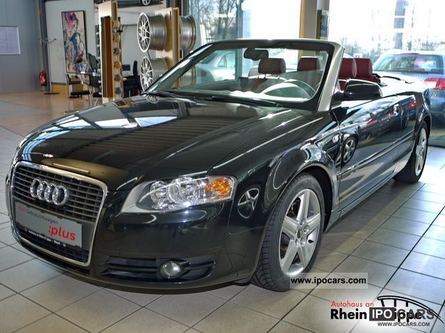 2007 audi let a4 cabriolet 2 0 tfsi multitronic car photo and specs. Black Bedroom Furniture Sets. Home Design Ideas