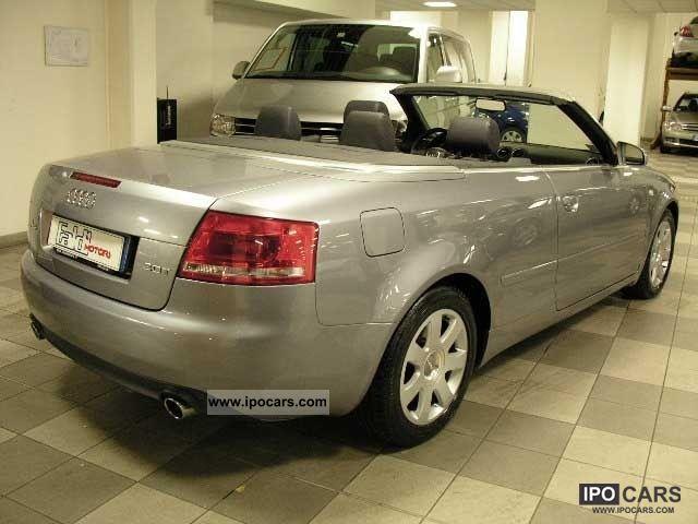 2006 audi a4 cabriolet 2 0 16v tfsi multitronic car photo and specs. Black Bedroom Furniture Sets. Home Design Ideas
