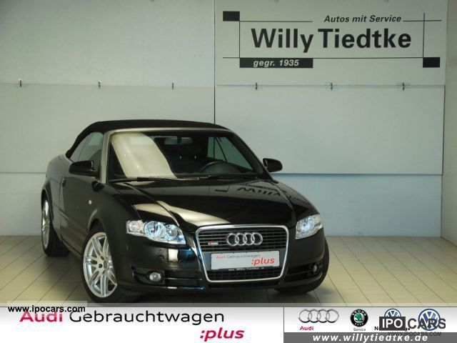 2008 Audi A4 Cabriolet S Line 20 Tfsi Let Pdc Ahk Air Car Photo